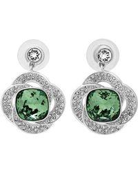 Swarovski | Crystal Agility Plated Drop Earrings | Lyst