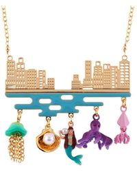 Les Nereides - I Am A Mermaid City And Underwater Life Necklace - Lyst