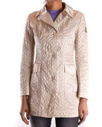Geospirit - Women's Beige Polyamide Coat - Lyst