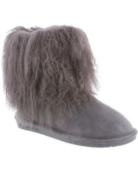 BEARPAW - Women's Boo Solids Furry Boot - Lyst