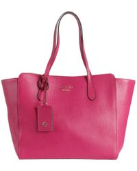 Gucci - Womens Swing Leather Pebbled Tote Handbag - Lyst