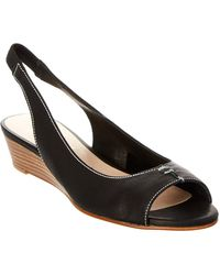 French Sole - Namely Leather Wedge Sandal - Lyst