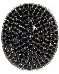 Adornia - Black Spinel And Sterling Silver Farrah Ii Ring - Lyst