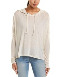 Peace Love World - Graphic Linen-blend Pullover - Lyst