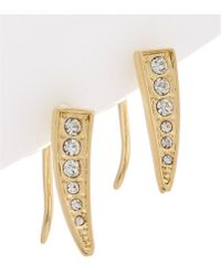 Rebecca Minkoff - Crystal Pave Climber Earrings - Lyst