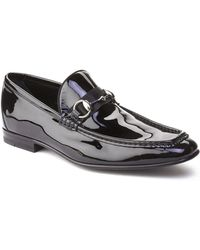 a33071d9f58 Gucci Black Leather And Quilted Satin Horsebit Loafers in Black for ...
