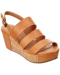 Chocolat Blu - Whitly Leather Wedge Sandal - Lyst