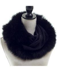 Surell - Acrylic Knit Loop With Fox Fur Trim - Lyst