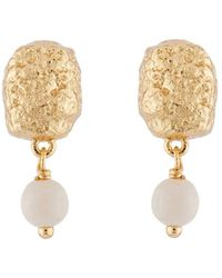 Les Nereides | Byzantine Treasures Gold Nugget And Pearl Earrings | Lyst