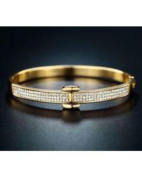 Peermont - Gold And Swarovski Elements Belt Bangle - Lyst