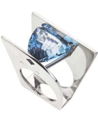 Jewelista - Blue Topaz & Sterling Silver Ring (6) - Lyst