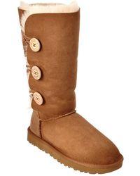 Ugg | Women's Bailey Button Triplet Ii Water-resistant Twinface Sheepskin Boot | Lyst