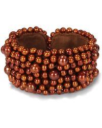 Catherine Malandrino - Cuff Bracelet Wih Freshwater Cultured Pearls - Lyst
