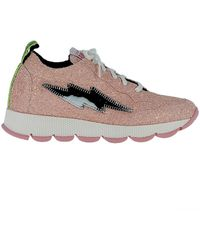 Leo - Women's Pink Glitter Sneakers - Lyst