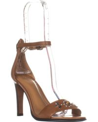 537c73f57ab Lyst - Coach Bowery Pointed Toe Leather Heels in Natural