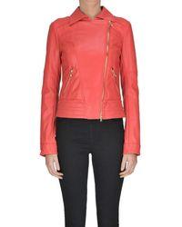 Patrizia Pepe - Women's Mcglcsg04046i Red Polyurethane Outerwear Jacket - Lyst