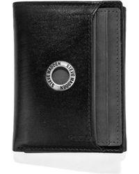 Steve Madden - Grommet Glazed Leather Trifold Wallet - Lyst
