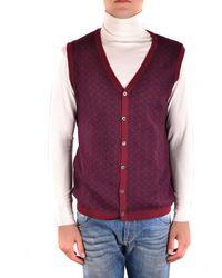 Massimo Rebecchi - Men's Mcbi203031o Burgundy Wool Vest - Lyst