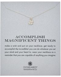 Dogeared - Reminder Collection Hashtag Silver Necklace - Lyst