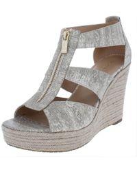 a1ec7bae7fb5 MICHAEL Michael Kors - Womens Damita Open Toe Espadrille Wedge Sandals -  Lyst