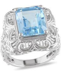 Catherine Malandrino - Blue Topaz Vintage Ring - Lyst