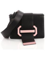 114bf881d6d9 Prada - Pre Owned Plex Ribbon Shoulder Bag City Calfskin Small - Lyst