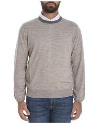 Brunello Cucinelli - Men's Beige Wool Sweater - Lyst