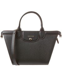 Longchamp - Le Pliage Heritage Medium Leather Top Handle Tote - Lyst