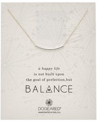 Dogeared - Balance Collection Silver Leather Necklace - Lyst
