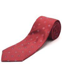 Luciano Barbera | Men's Slim Silk Neck Tie Crimson Red | Lyst