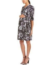 Everly Grey - Maternity Mila Wrap Dress - Lyst
