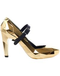 United Nude - Women's Gold Synthetic Fibers Pumps - Lyst