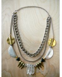 Love Leather - Party Rocked Necklace - Lyst