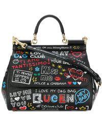 Dolce & Gabbana - Dolce E Gabbana Women's Black Leather Handbag - Lyst