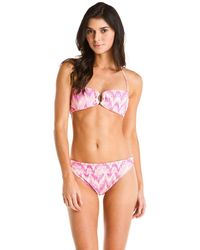 Shoshanna - Sand Dune Pink Print Brief Bottom - Lyst