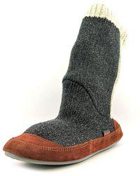 Acorn - Slouch Boot Men Round Toe Canvas Grey Slipper - Lyst