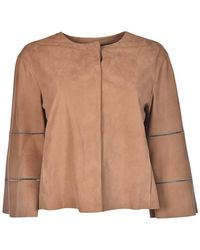 DROMe - Women's Brown Leather Outerwear Jacket - Lyst