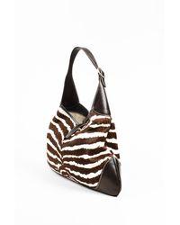 c1f7fb54907 Gucci - 1 Brown Cream Zebra Stripe Pony Hair