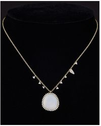Meira T - 14k Two-tone & Silver 8.41 Ct. Tw. Diamond & Chalcedony Necklace - Lyst