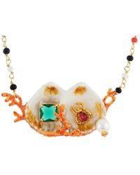 Les Nereides - Exoplanet Double Shell And Branch Of Corals Necklace - Lyst