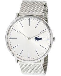 Lacoste - Men's Moon 2010901 Silver Stainless-steel Quartz Fashion Watch - Lyst