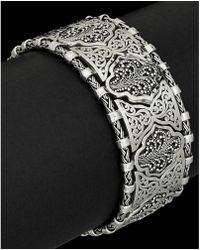 Lois Hill - Classic Silver Link Toggle Bracelet - Lyst