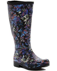 Chooka - Womens Brocade Rubber Closed Toe Mid-calf Rainboots - Lyst
