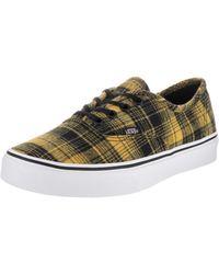 90aa0b18033b Lyst - Vans Authentic Plaid Low Top Canvas Skateboarding Shoe - 11m ...
