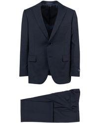 Pal Zileri - Navy Blue Wool Two Button Suit - Lyst