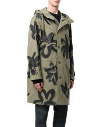 Moschino - Men's Green Cotton Coat - Lyst