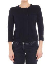 Sun 68 - Women's Black Cotton Sweatshirt - Lyst