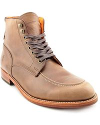 Frye - Walter Lace-up Men Round Toe Leather Tan Ankle Boot - Lyst
