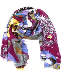 La Fiorentina - Women's Scarf With Abstract Print - Lyst