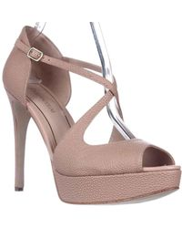 Enzo Angiolini - Abalina Peep-toe Criss Cross Dress Court Shoes, Light Natural - Lyst